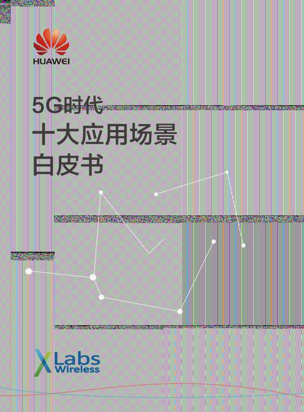 5G时代十大应用场景白皮书-华为