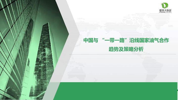 """中源数聚-中国与""""一带一路""""沿线国家油气合作趋势及策略分析-23页"""